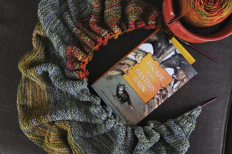 Color affection shawl